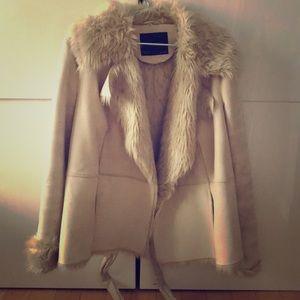 Zara faux suede/fur jacket